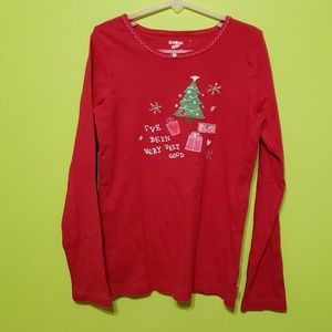 Girls' OshKosh Christmas t-shirt  Sz. 12